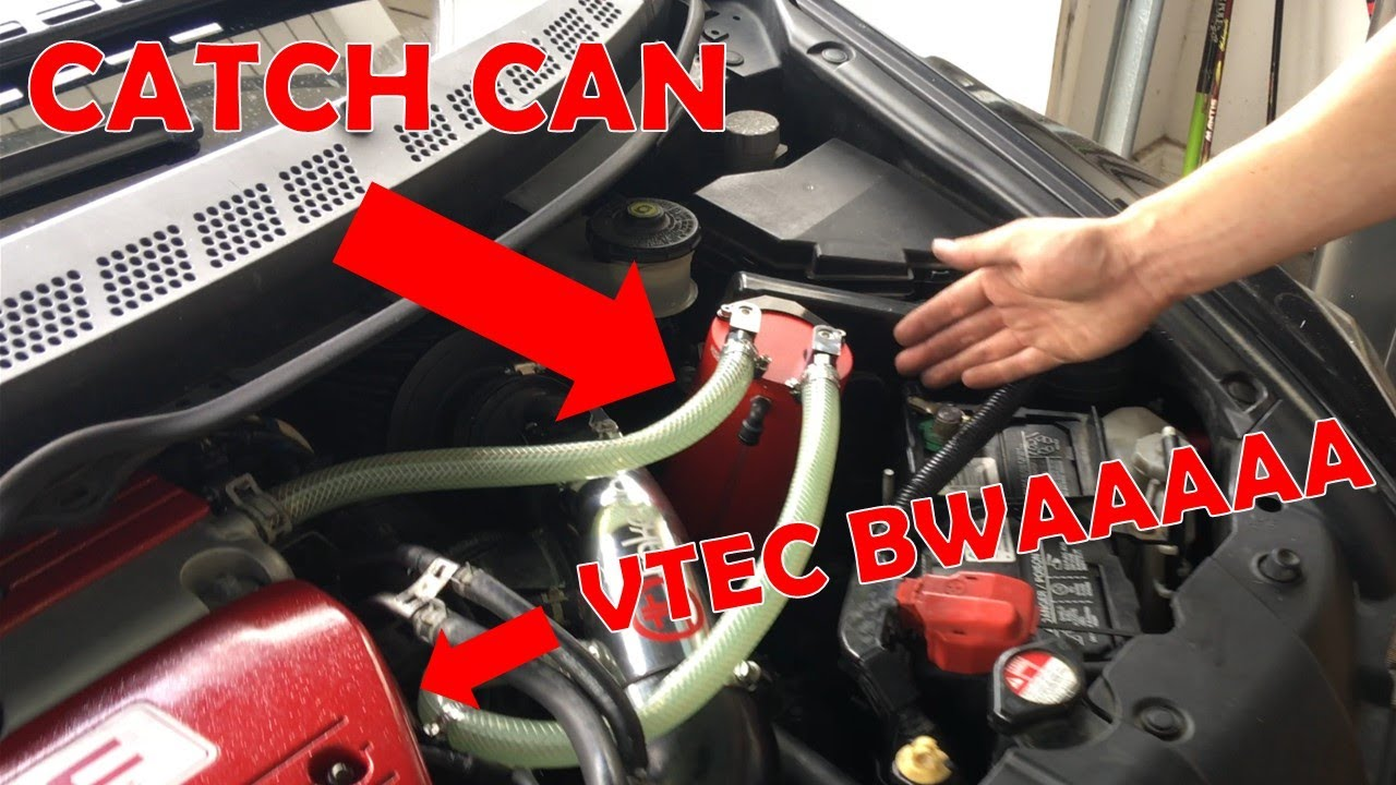HONDA CIVIC Si GETS CATCH CAN!!! - YouTube