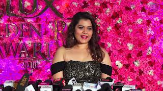 Shikha Talsania at The Red Carpet of Lux Golden Rose Awards 2018