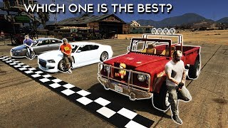 GTA V - WHICH MAIN CHARACTER HAS THE BEST CAR?