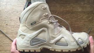 UK guy reviews Lowa Zephyr GTX Mid TF Desert Walking / Hiking / Military  Boots