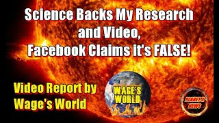 Science Backs My Research and Video, Facebook Claims it's FALSE!