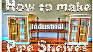 How to make Industrial Pipe Shelves | #DIY #Tutorial