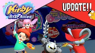 Kirby Star Allies UPDATE (Adeleine, Dark Metaknight, and Daroach)
