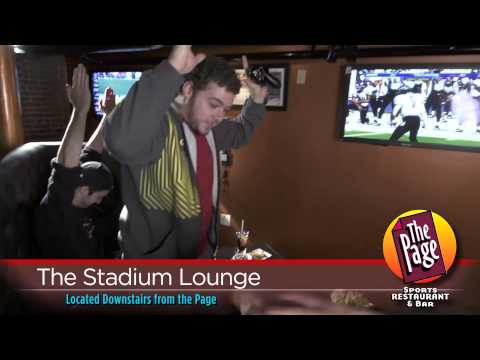 Commercial for The Page Sports Restaurant & Bar Featuring The Stadium