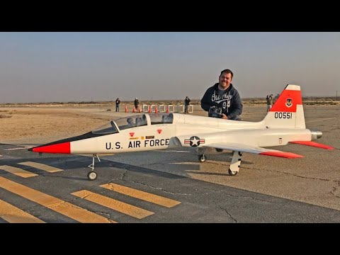 Scratch-Built Giant RC T-38 Talon (World's Largest EDF) - Best in the West Jet Rally 2017