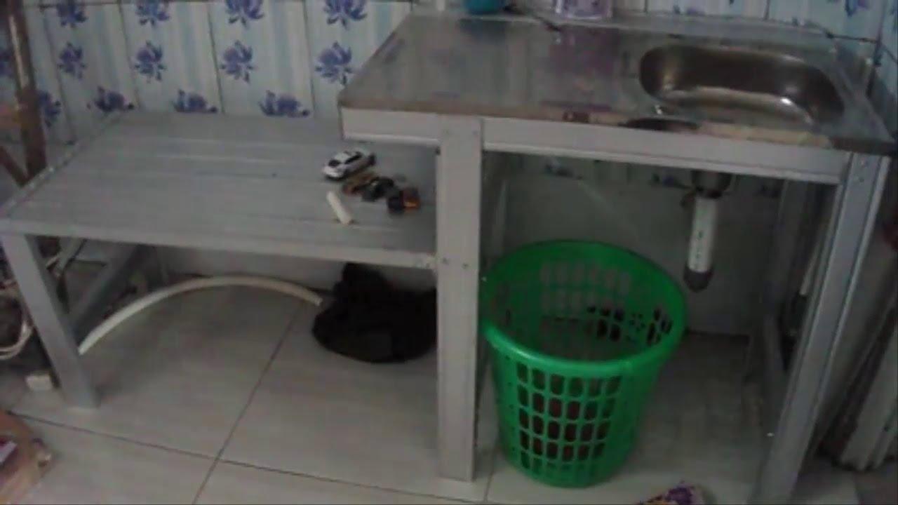 Merakit Tempat Cuci Piring Dari Baja Ringan Yang Praktis Youtube