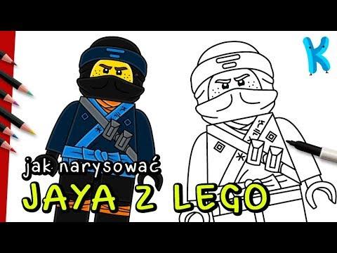 Jak Narysować Jaya Z Lego Ninjago Rysowanie Dla Dzieci Youtube