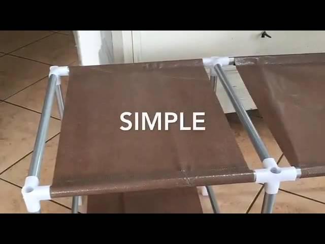 Leogreen Armoire Et Penderie De Rangement En Toile Simple Facile