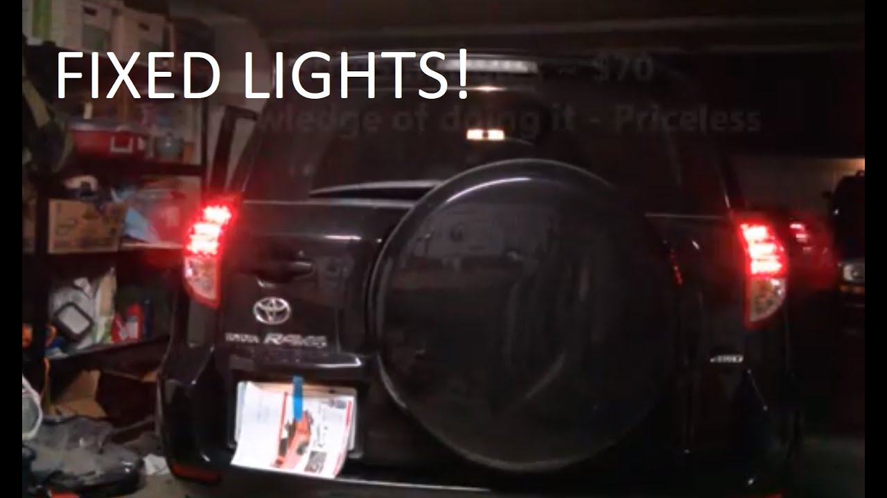 Toyota Rav4 Taillight Wire Diagram 34 Wiring Images 2006 Fuse Box How To Replace A Led Tail Light On 2013 Youtube