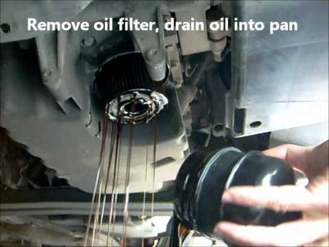 Oil Change and Oil Filter Change. Volvo S40 V40 - YouTube