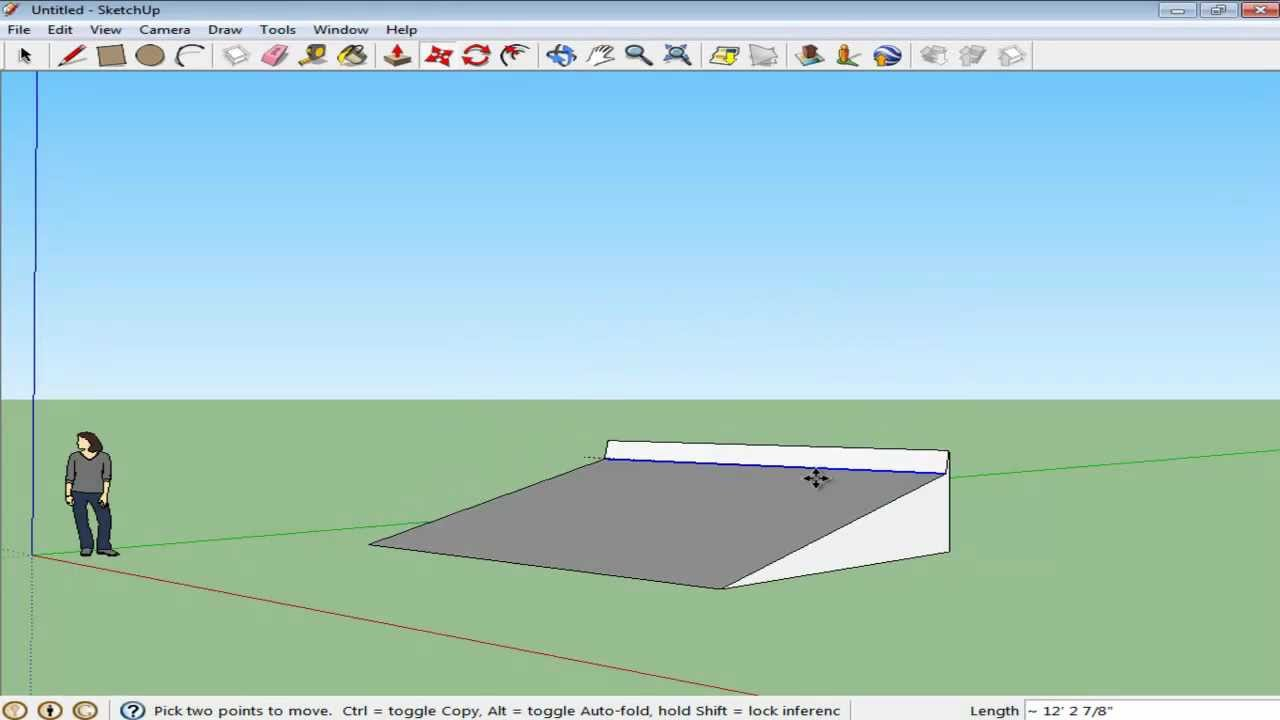 How to move objects in Google SketchUp