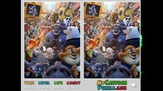 Мультик игра Зверополис: Искать отличия (Zootopia Find Differences)