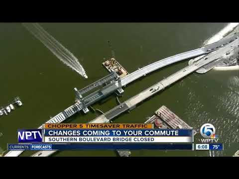 Temporary bridge opens up off of Southern Boulevard in West Palm Beach