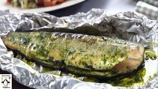 Вкусный и простой рецепт рыбы.Запеченный сибас с томатами и песто