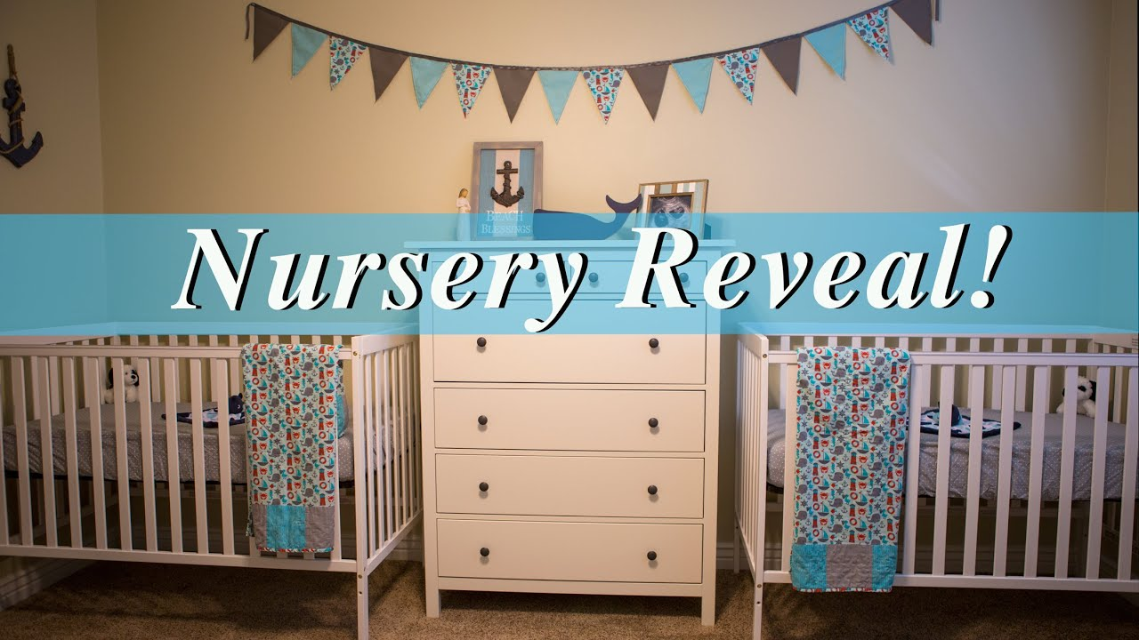 Twin Baby Nursery Reveal Nautical Design Ideas