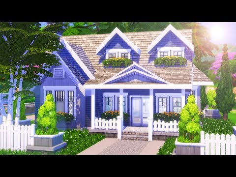 CLEAN FAMILY SUBURBAN BUNGALOW Home Build | The Sims 4: SPEED BUILD (NO CC)