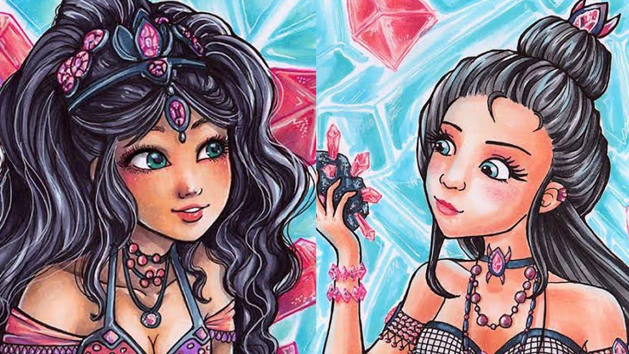 Jewel Sisters Copic Marker Illustration Sakuems