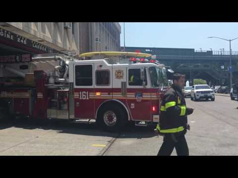 FDNY Engine 245, Ladder 161, and Battalion 43 Responding