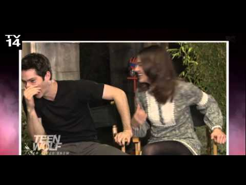 Dylan O † Brien & Crystal Reed funny clip