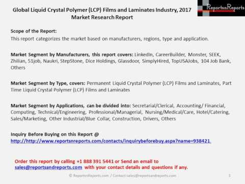 Global Forecasts on Liquid Crystal Polymer (LCP) Films and Laminates Market Analysis to 2022