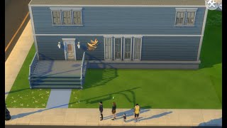 Building our real house in the Sims 4 game