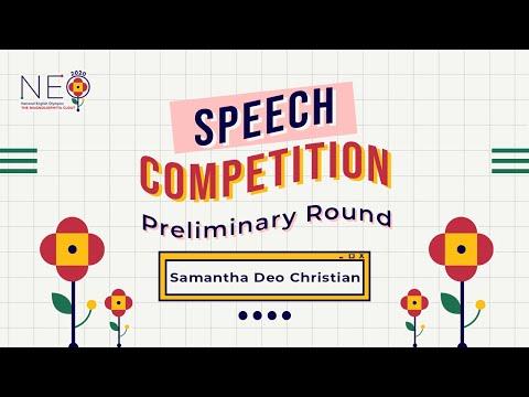 Samantha Deo Christian - Speech - Preliminary Round NEO 2020