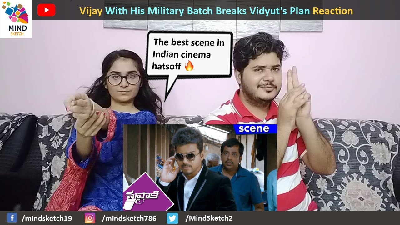 Vijay With His Military Batch Breaks Vidyut's Plan Reaction    Thuppakki Movie Scene Reaction