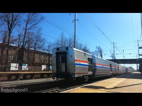 Amtrak Silver Meteor Train #97 (+5 new Viewliner II Baggage cars) at N. Elizabeth, NJ