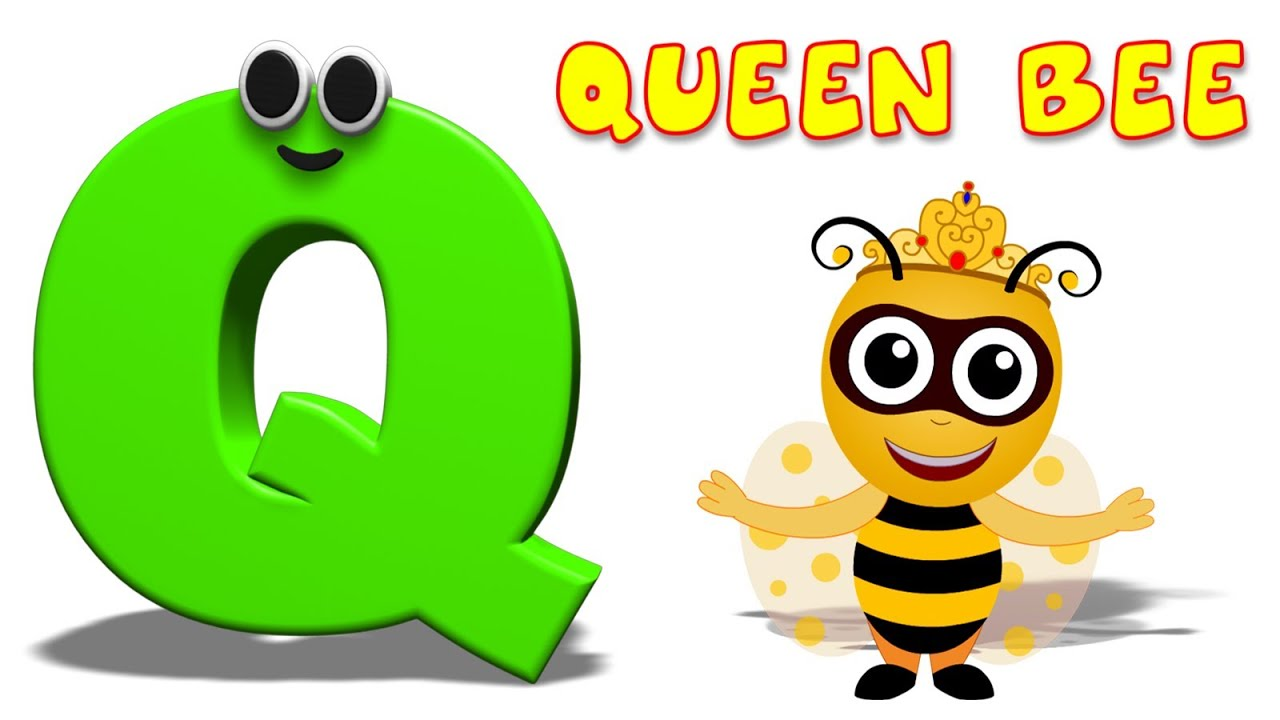 phonics letter q alphabet nursery rhymes for children learning