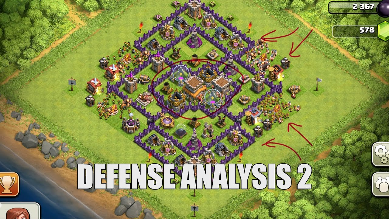 Clash of Clans - Part 31 - Defense Analysis 2 - YouTube