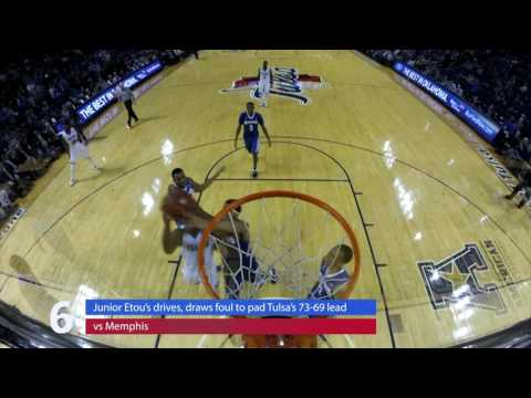 Univesity of Tulsa MBB Top 10 plays of January Feature