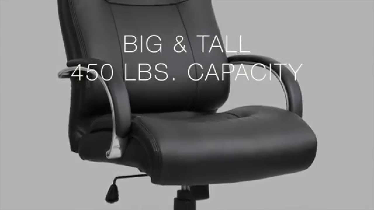 lorell 40206 deluxe big tall chair hd youtube