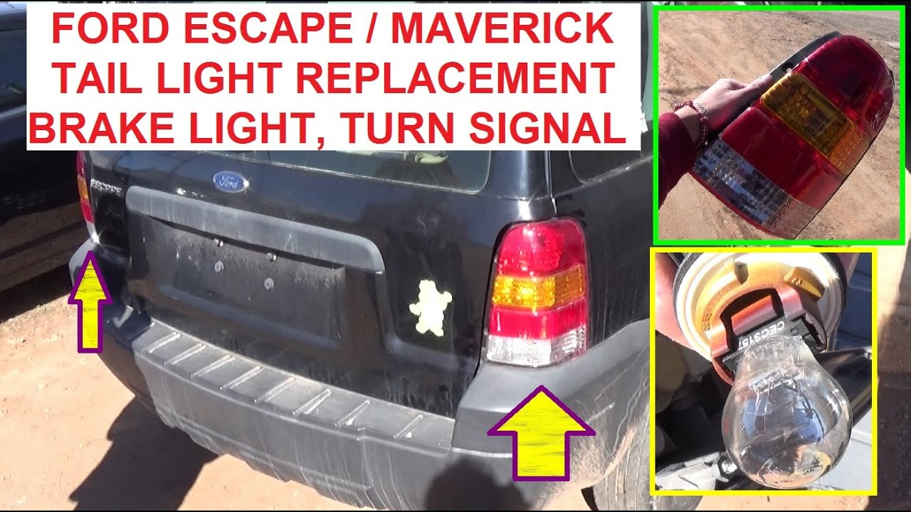 ford escape mercury mariner tail light replacement tail