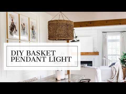 DIY Basket Pendant Light
