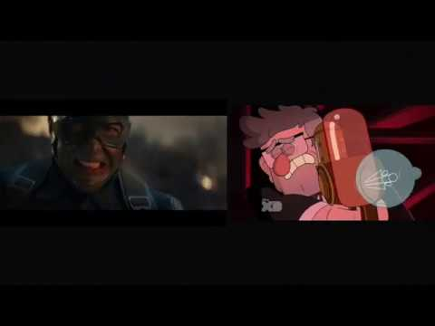 Avengers: Endgame Trailer 2 (Disney Channel/XD Parody) Side By Side Comparison