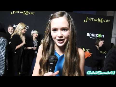 On the Red Carpet for Amazon's JUST ADD MAGIC Premiere