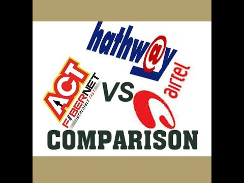 COMPARISON ACT, AIRTEL & HATHAWAY BROADBAND