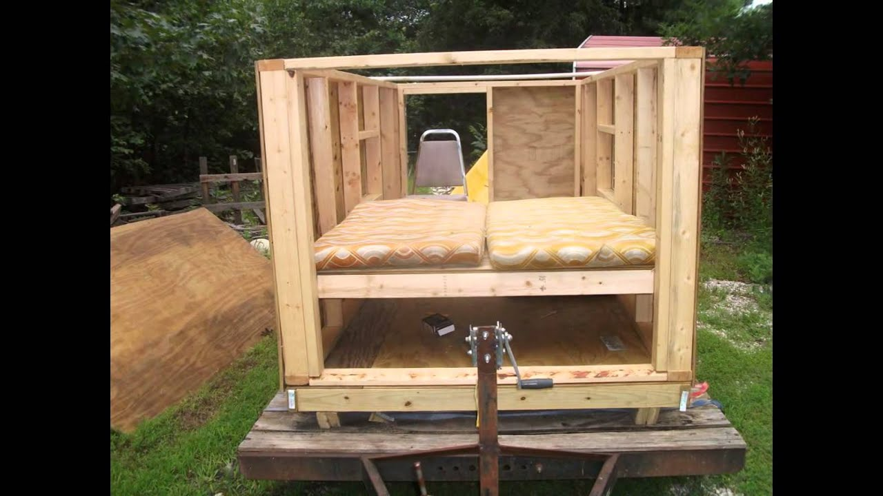 Homemade Camper Trailer Build Youtube