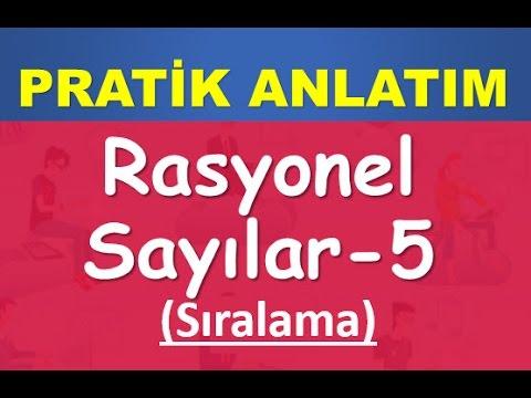 34) RASYONEL SAYILAR(Sıralama)- Konu-Soru Çözümü-YKS(TYT)-KPSS-DGS-ALES-Matematik-Abdül Aziz Gürbüz