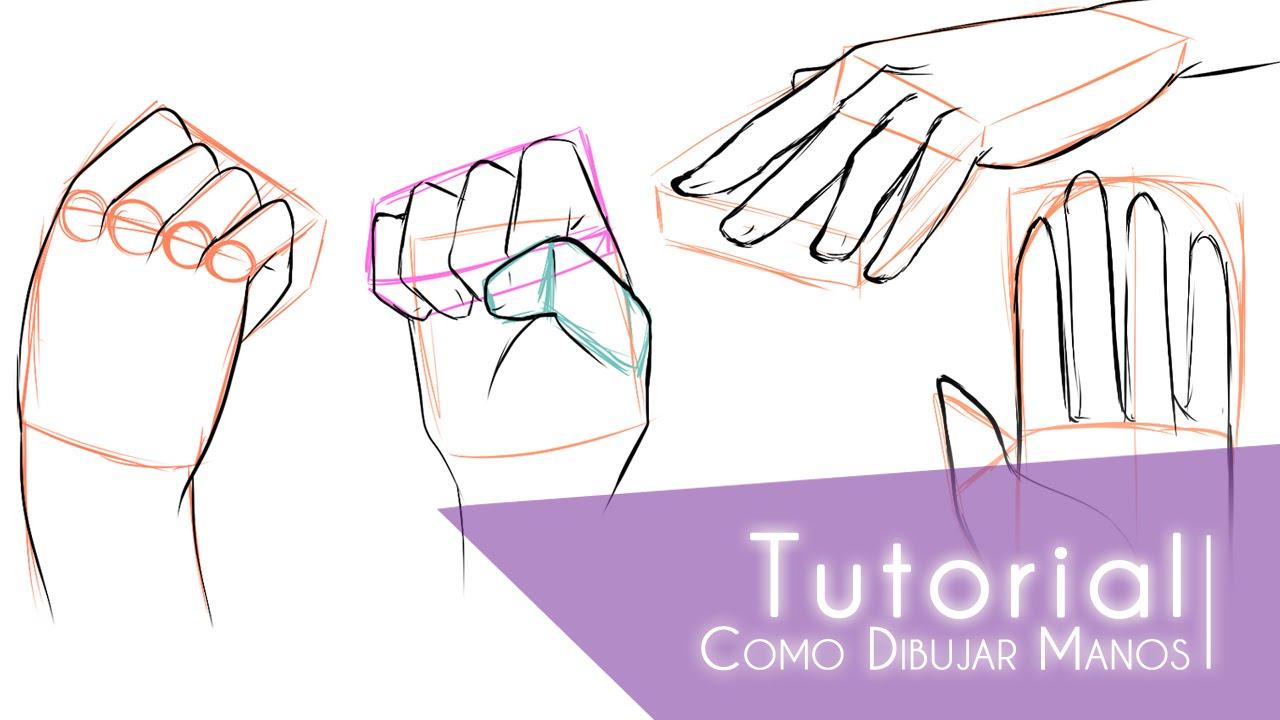 Tutorial ۰•●Como dibujar manos●•۰ #1