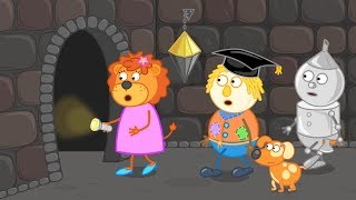 Lion Family 🦁  Underground of the Mysterious City 😍 Cartoon for Kids