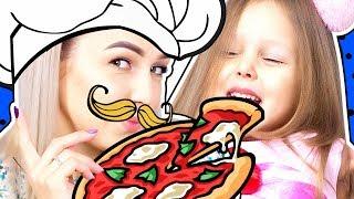 ОТКРЫВАЕМ ПИЦЦЕРИЮ и Делаем Фреши со льдом У Амельки супермаркет, а у мамы Пиццерия Видео для детей