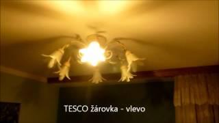 Srovnání LED žárovky - E14 - žárovka 4W a TESCO E14-9W