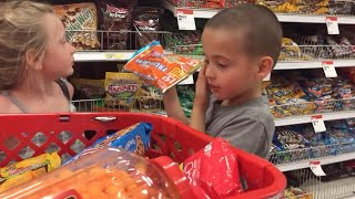 Kids Eat and Review Candy - Power Wheels trip to go Candy Shopping!