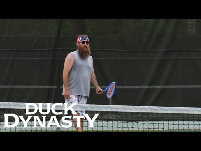 Duck Dynasty\: Top Moments\: Willie Plays Tennis | Duck Dynasty