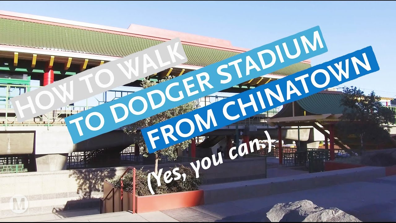 How to walk to Dodger Stadium from Metro Rail (yes, you can) - The Dodgers Stadium Parking Map on