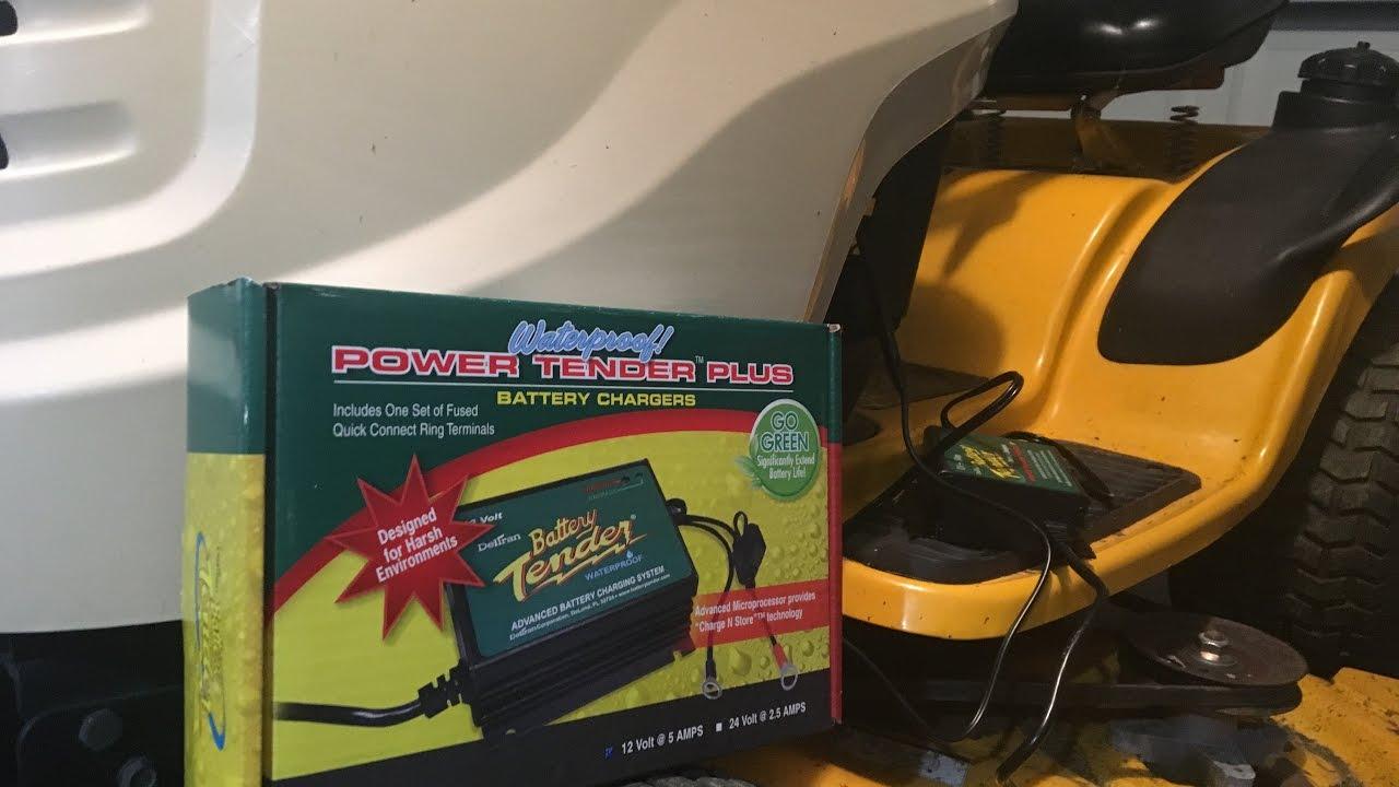 Battery Tender install for lawnmower