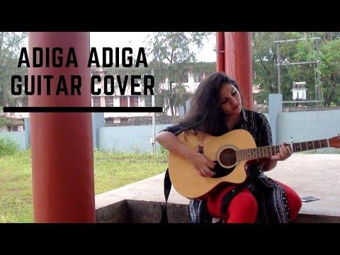Adiga Adiga Telugu Song| Female guitar Cover