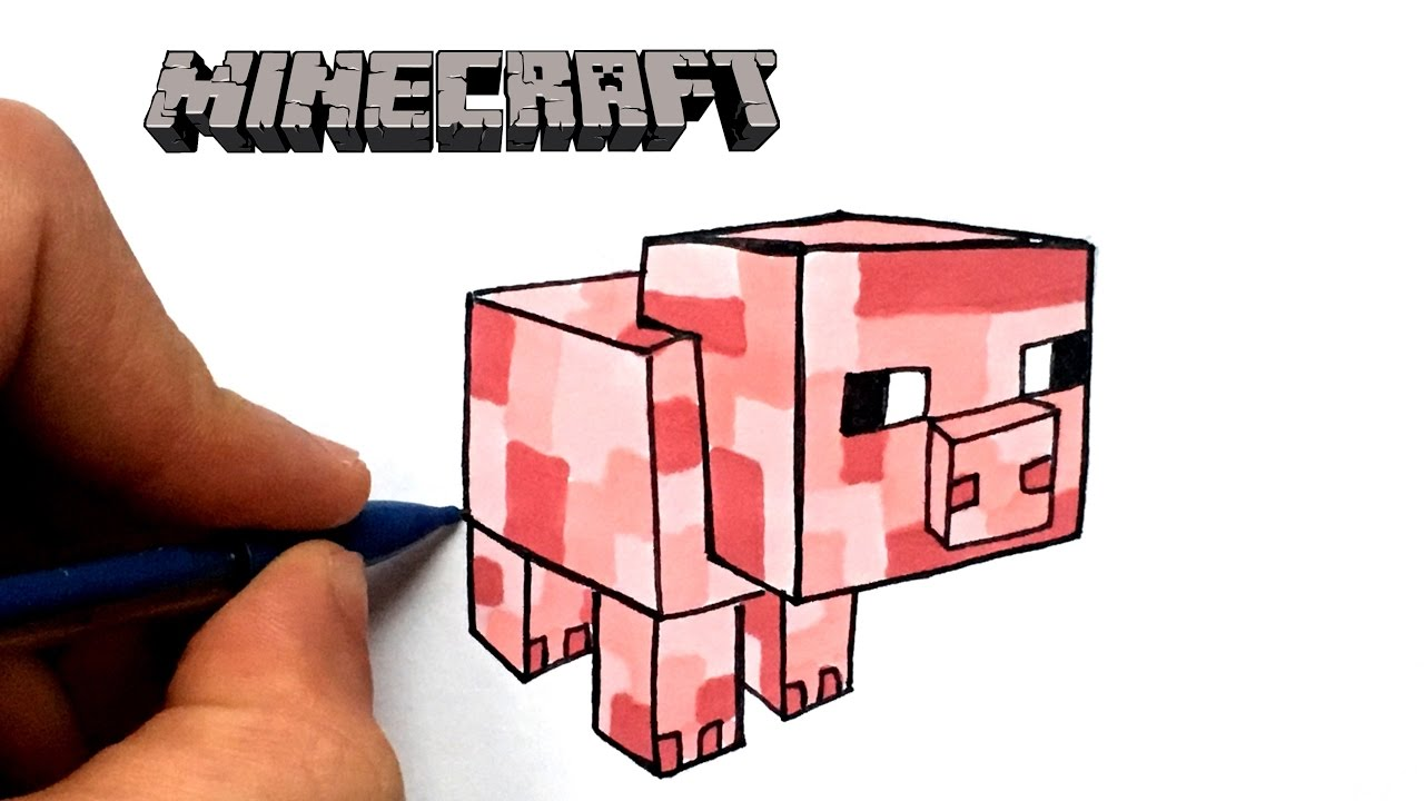 Dessin cochon minecraft youtube - Minecraft cochon ...