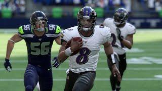 NFL Sunday Football - Baltimore Ravens vs Seattle Seahawks – Week 7 (NFL 10/20/2019) Madden 20